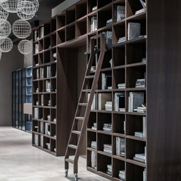 书房书柜展示区设计图