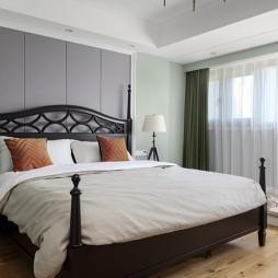 现代美式风主卧室设计图