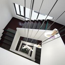马山栖渡酒店旋转楼梯设计