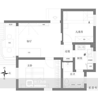设计案例 | 洛城50㎡小两居尽显小确幸_3641506