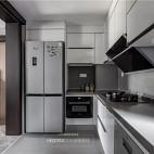 现代风异型厨房设计图