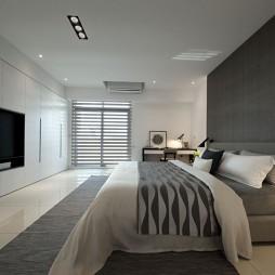 純粹現代風大臥室設計