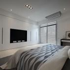 纯粹现代风卧室背景墙图片