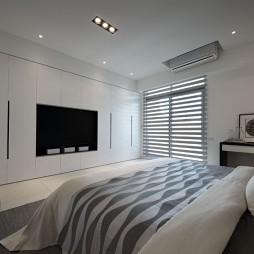 純粹現代風臥室背景墻圖片