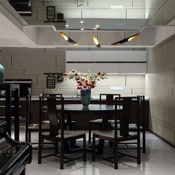 细腻中式风餐厅设计图片