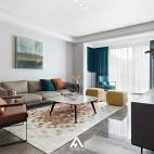 宁静现代风客厅沙发图片