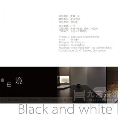 Loft理想生活,广州45㎡黑白个性空间