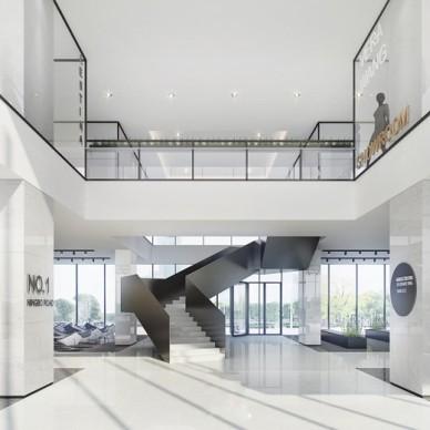 办公空间-白色的office_3656466