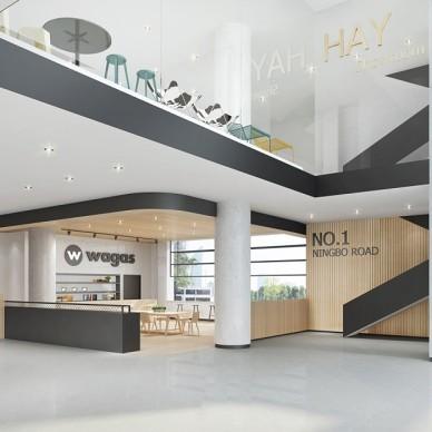 办公空间-白色的office_3656468