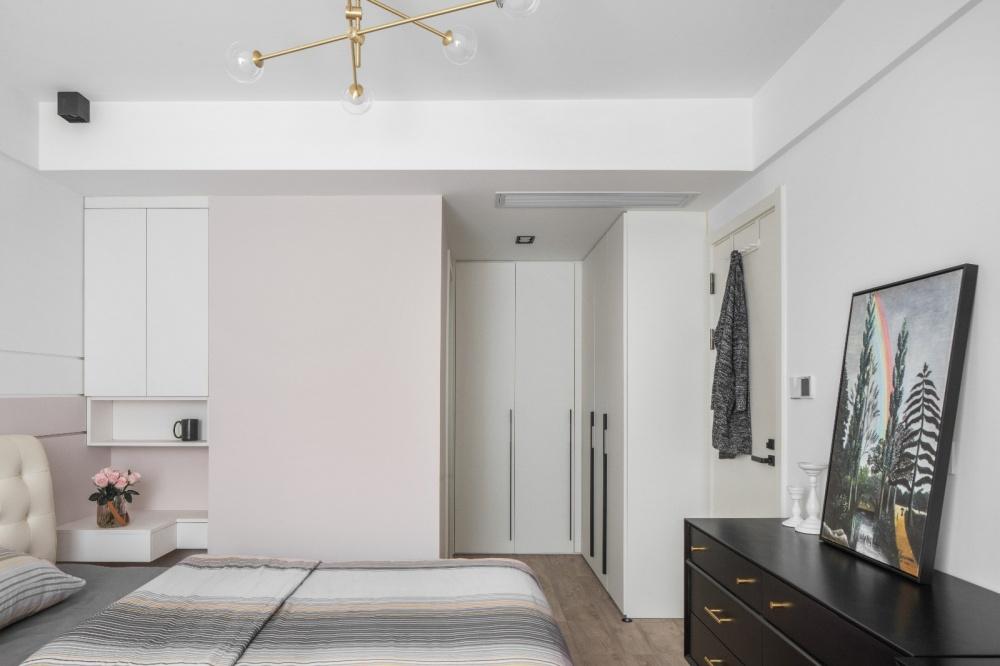 110平凹出下沉式客厅卧室2图现代简约卧室设计图片赏析