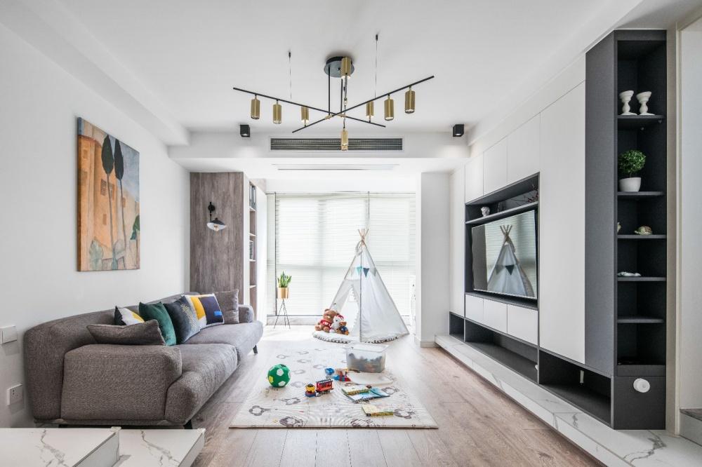 110平凹出下沉式客厅客厅1图现代简约客厅设计图片赏析
