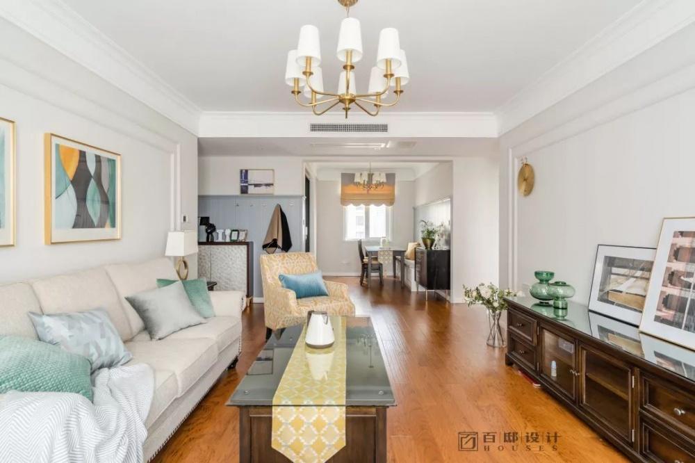 百邸|岁月怡然,向阳而生客厅美式经典客厅设计图片赏析