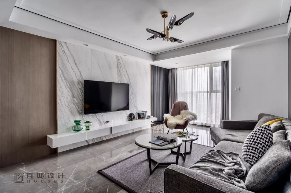 百邸|星辰客厅现代简约客厅设计图片赏析