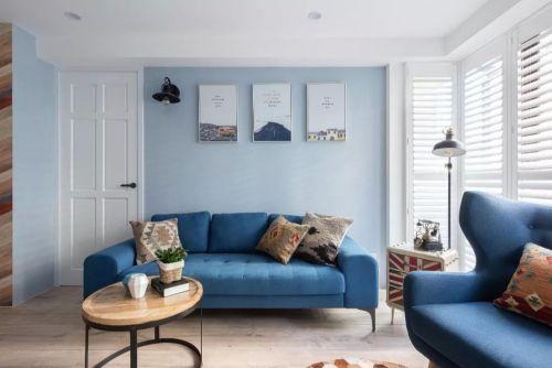 翡翠郡软装案例客厅窗帘121-150m²三居北欧极简家装装修案例效果图
