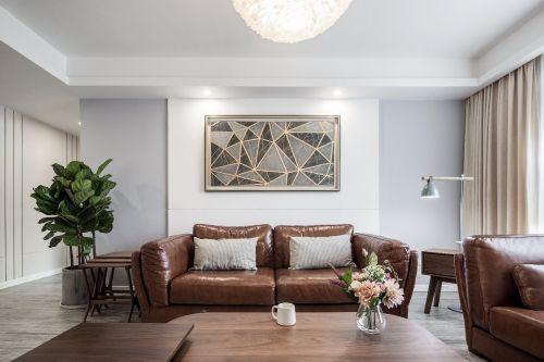 大气灰白调,越清新简约越自然温暖客厅窗帘121-150m²四居及以上现代简约家装装修案例效果图