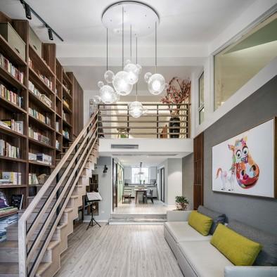 120平大四居日式混搭复式家。