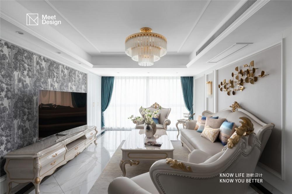 优雅欧式,带你探秘融化在奶油里的甜蜜生活客厅欧式豪华客厅设计图片赏析