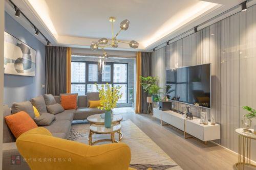 江西抚州·丰源宜合现代混搭客厅窗帘121-150m²四居及以上现代简约家装装修案例效果图
