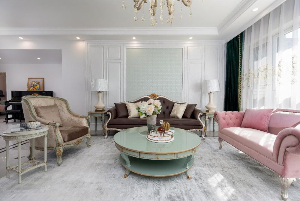 法泰案例|简欧风,一家四口的温情居所客厅欧式豪华客厅设计图片赏析