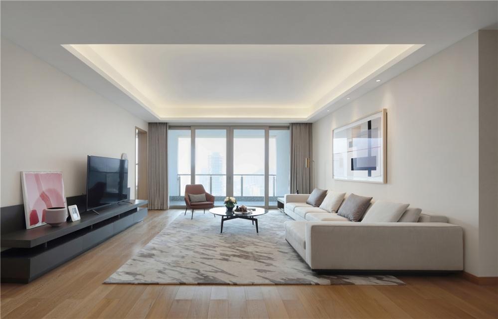 深圳水湾1979平层公寓客厅现代简约客厅设计图片赏析
