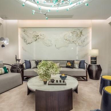 成都国奥村私宅—客厅图片
