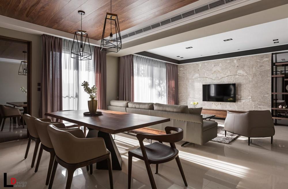 婆娑树影宁静暖宅厨房现代简约餐厅设计图片赏析