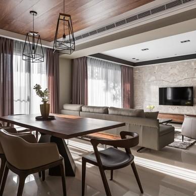 现代简约宁静暖宅—客餐厅图片
