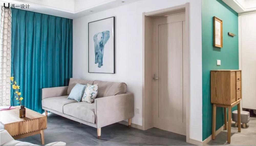 南通遇一设计丨梦想之家丨120㎡遇见北欧客厅2图北欧极简客厅设计图片赏析