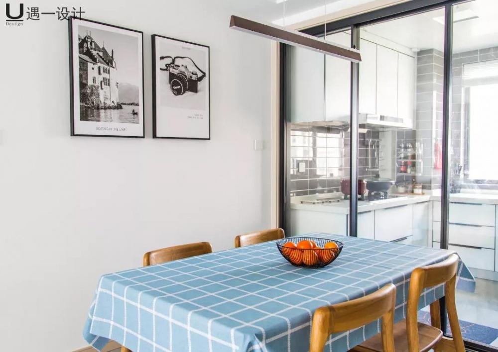 南通遇一设计丨梦想之家丨120㎡遇见北欧厨房1图北欧极简餐厅设计图片赏析