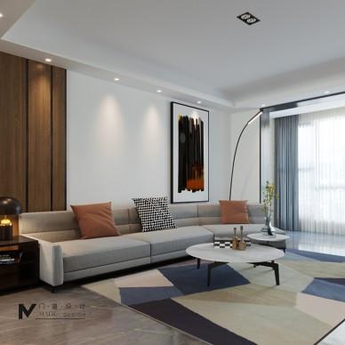 130平现代简约—客厅美图