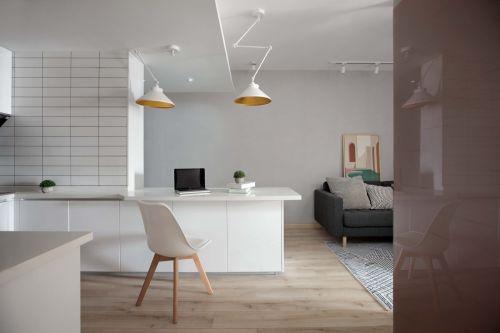 """""""共""""性的""""麻雀""""之家客厅吧台60m²以下二居家装装修案例效果图"""