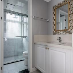 浅色系美式婚房—卫生间图片