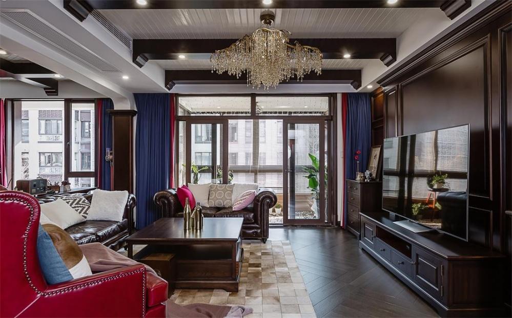 康盛装饰┃180㎡私宅·澄品生活客厅美式经典客厅设计图片赏析