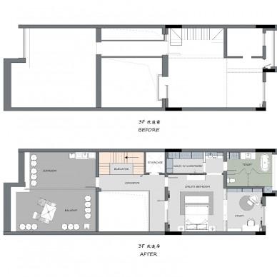 气质灰+蓝 融合美式与现代的优雅轻奢美宅_3704865