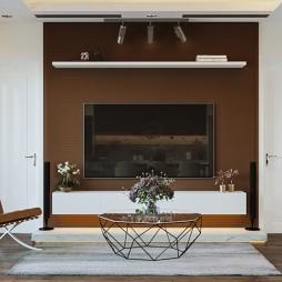 中式与简约风格的另类演绎—电视背景墙图片