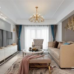 140平米美式经典:客厅图片