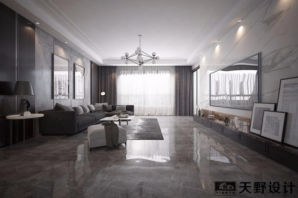 佰瑞庭大平层260客厅现代简约客厅设计图片赏析