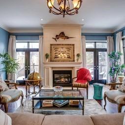 美式經典別墅豪宅—客廳圖片