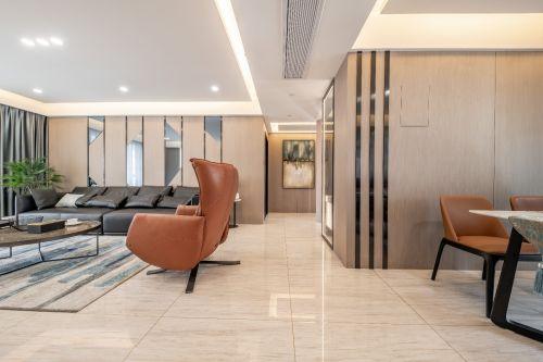 简单且有质感的家庭空间客厅窗帘三居现代简约家装装修案例效果图