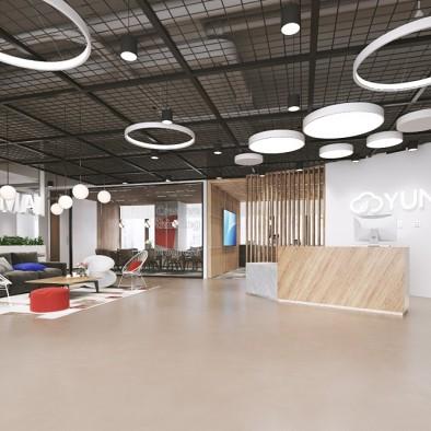 科技公司----LOFT办公空间设计