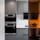 高级灰住宅里的一抹暖意—厨房图片
