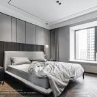 高级灰住宅里的一抹暖意—卧室图片