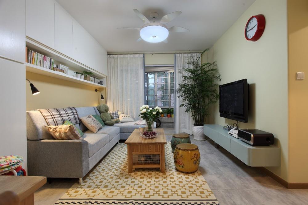 温馨的五口之家客厅潮流混搭客厅设计图片赏析