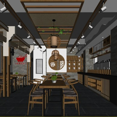 陕西老碗餐厅设计_3717943