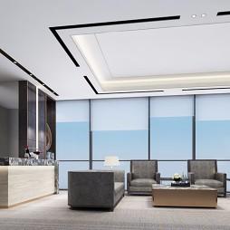 廣州金融城綠地中心金融投資公司辦公室裝修_3718012