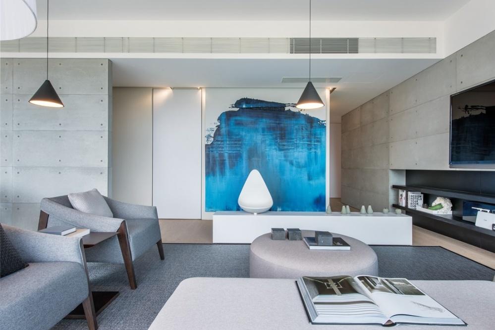 畢架山一號客厅现代简约客厅设计图片赏析