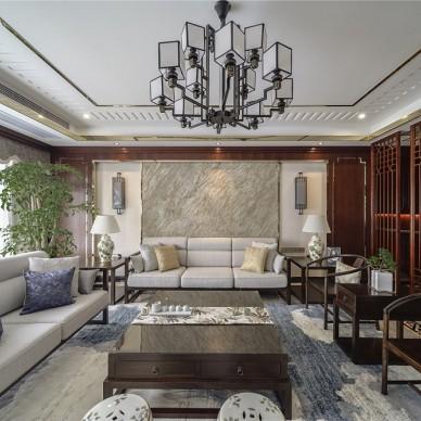 250㎡大平層設計,碧桂園儒雅輕奢大宅——客廳圖片