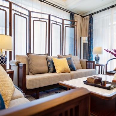 新中式別墅軟裝設計——客廳圖片