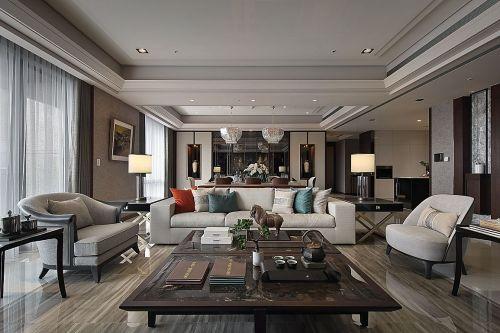 九五至尊驚鴻山水間客厅沙发201-500m²四居及以上中式现代家装装修案例效果图