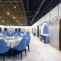 蔚蓝大海的印象主义交响乐——大厅铝板墙图片